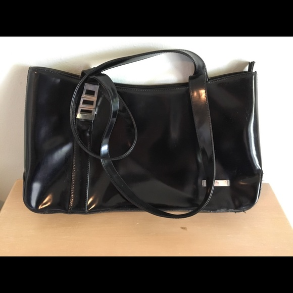 1efdaf699 Gucci Bags | Vintage Purse Black Patent Leather Tote | Poshmark